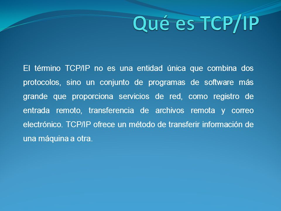 Qué es TCP/IP