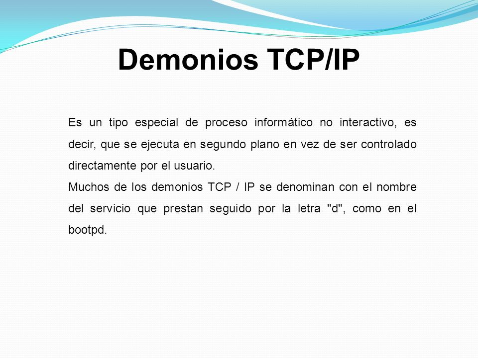 Demonios TCP/IP
