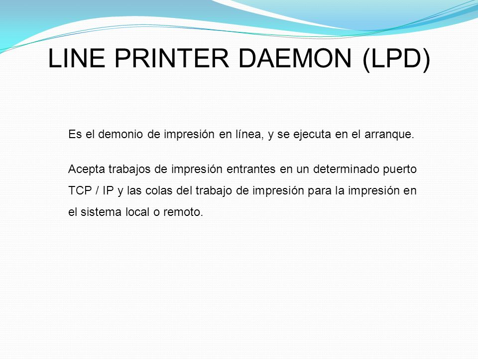 LINE PRINTER DAEMON (LPD)