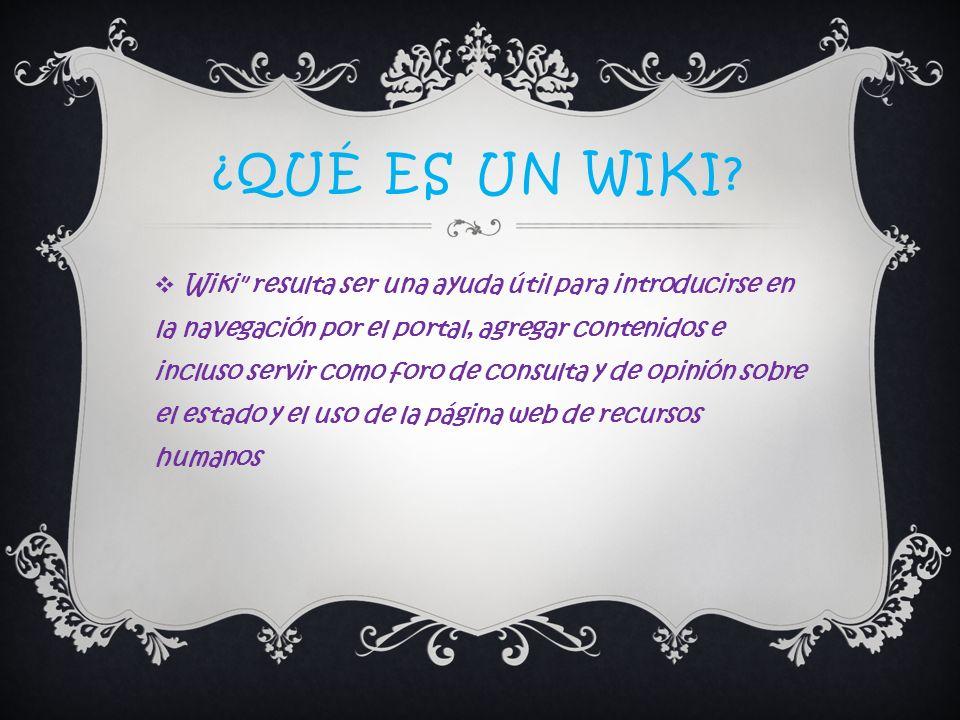 ¿Qué es un wiki