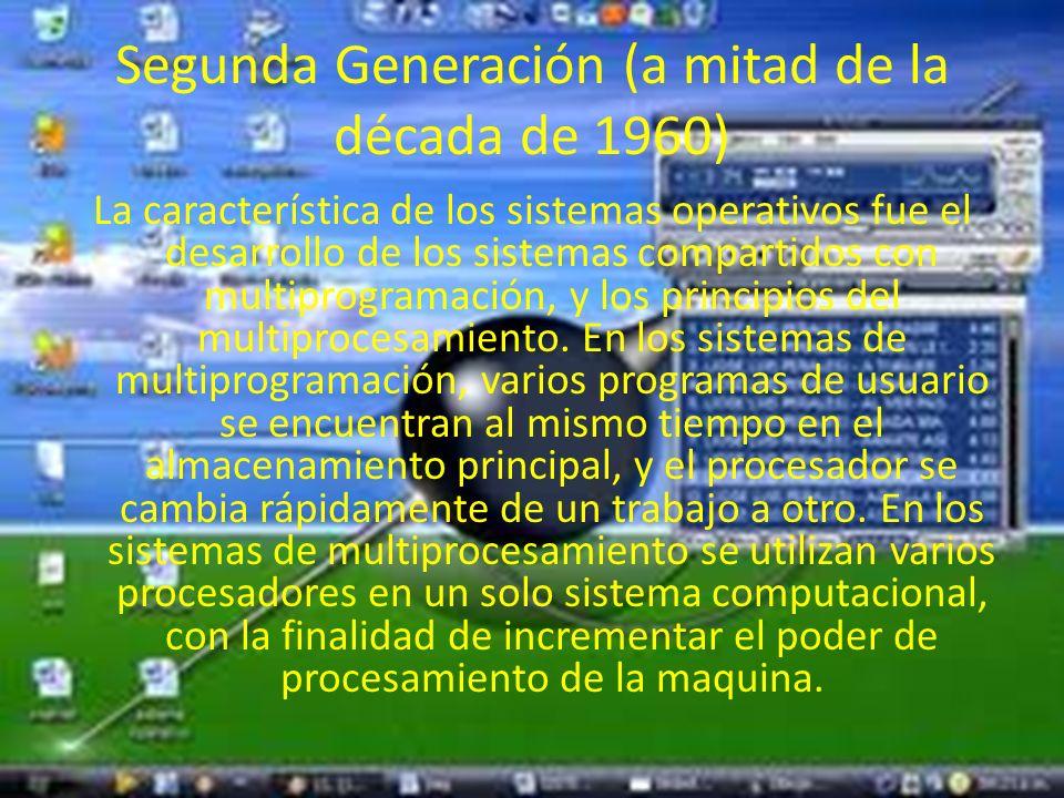 Segunda Generación (a mitad de la década de 1960)