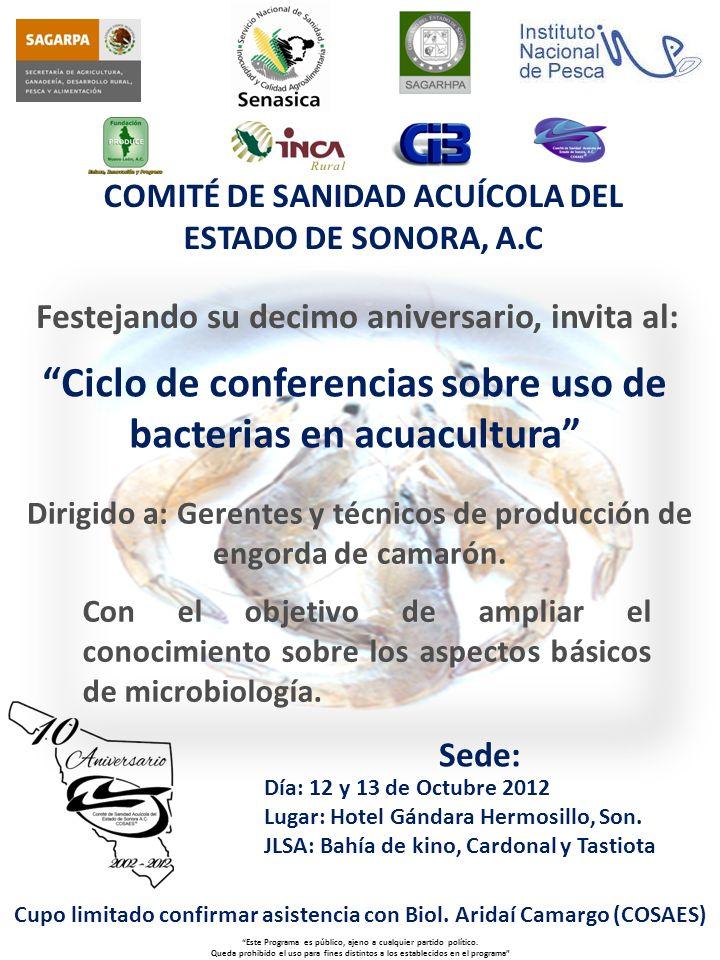 Ciclo de conferencias sobre uso de bacterias en acuacultura