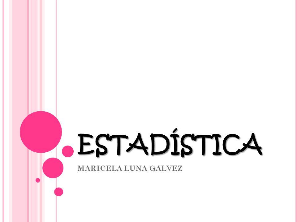 estadística MARICELA LUNA GALVEZ