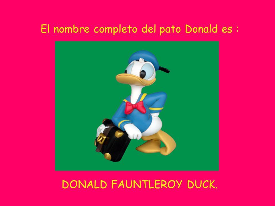 El nombre completo del pato Donald es :