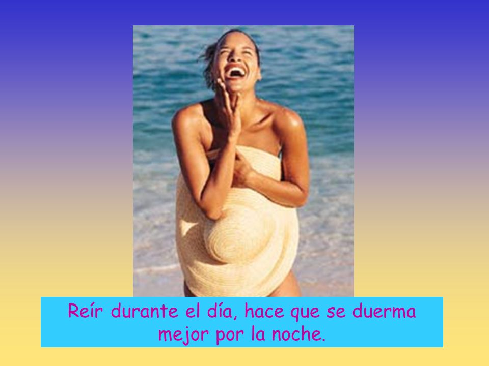 Reír durante el día, hace que se duerma mejor por la noche.