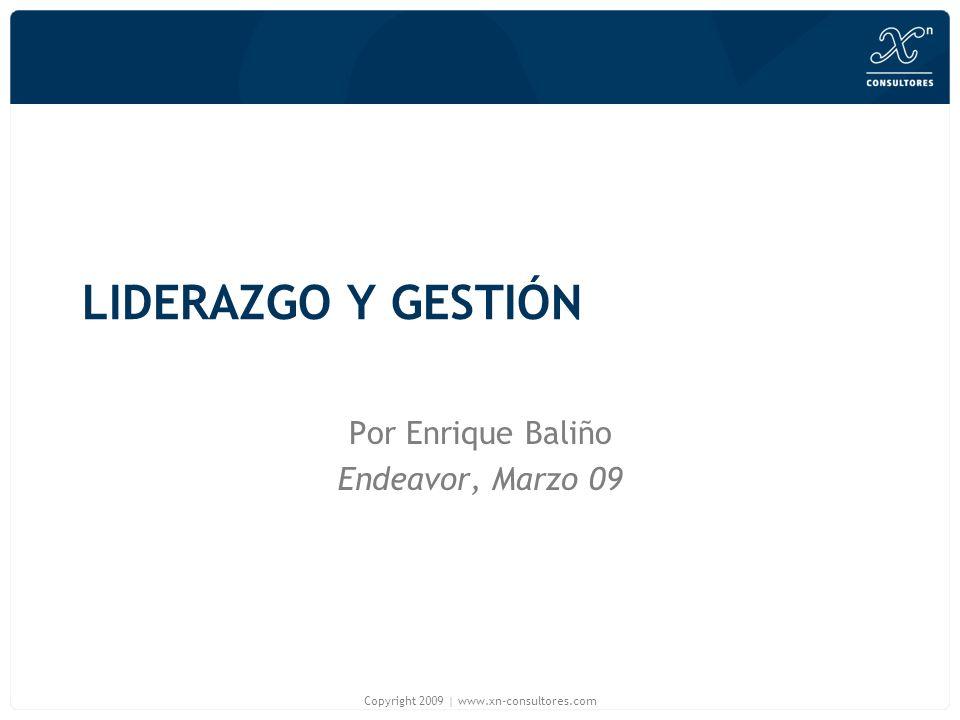 Por Enrique Baliño Endeavor, Marzo 09