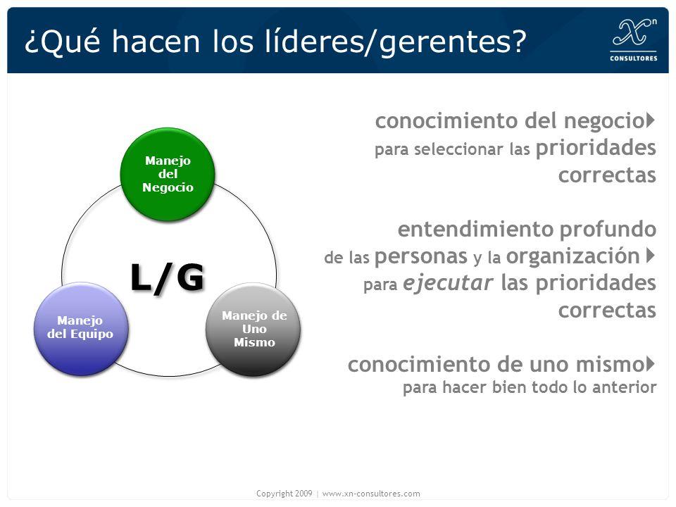 ¿Qué hacen los líderes/gerentes