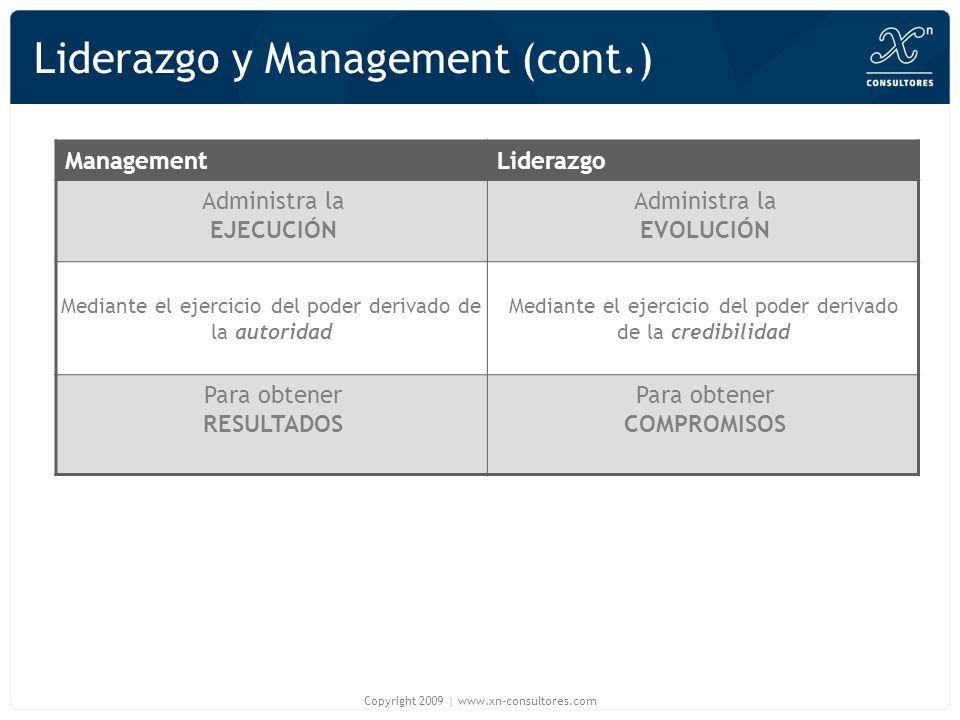Liderazgo y Management (cont.)