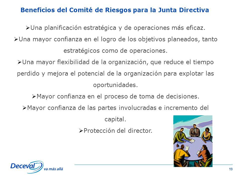 Beneficios del Comité de Riesgos para la Junta Directiva