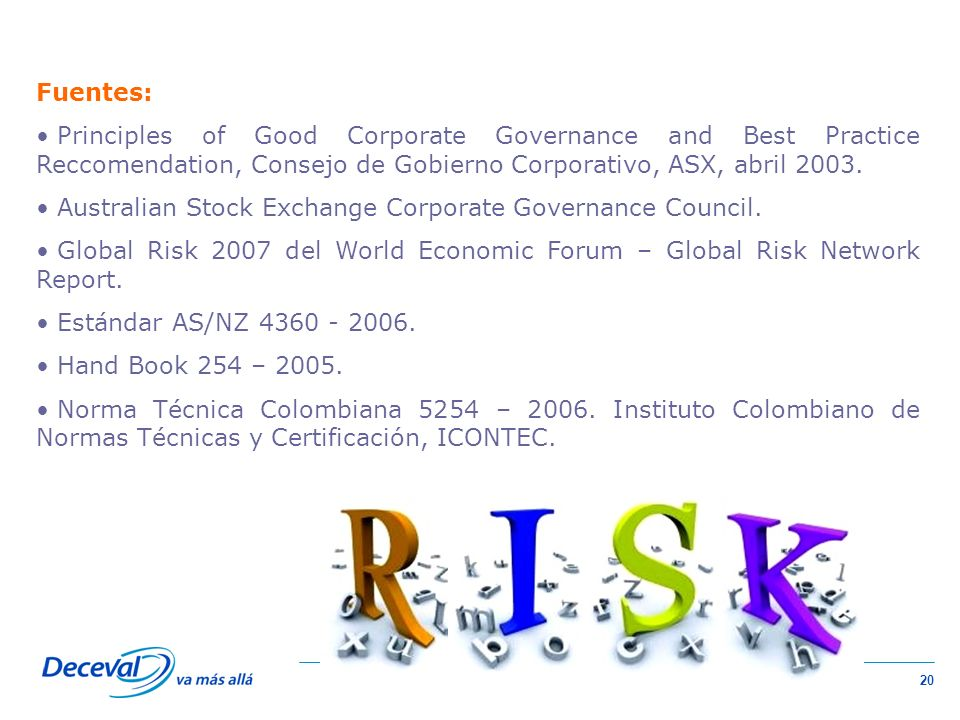 Fuentes: Principles of Good Corporate Governance and Best Practice Reccomendation, Consejo de Gobierno Corporativo, ASX, abril 2003.