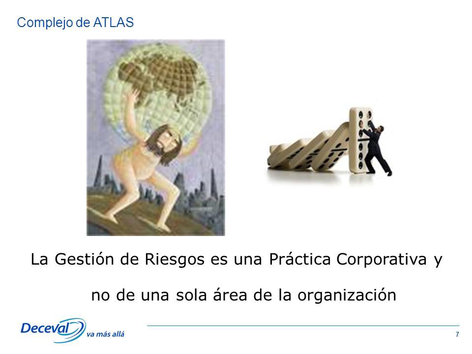 Complejo de ATLAS La Gestión de Riesgos es una Práctica Corporativa y no de una sola área de la organización.