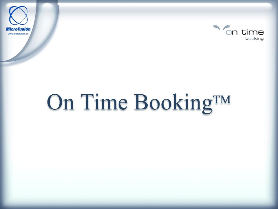 On Time Booking