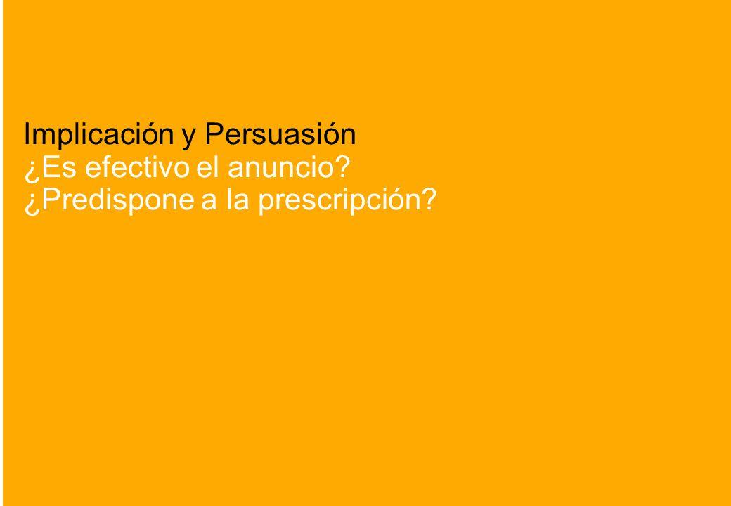 Implicación y Persuasión ¿Es efectivo el anuncio