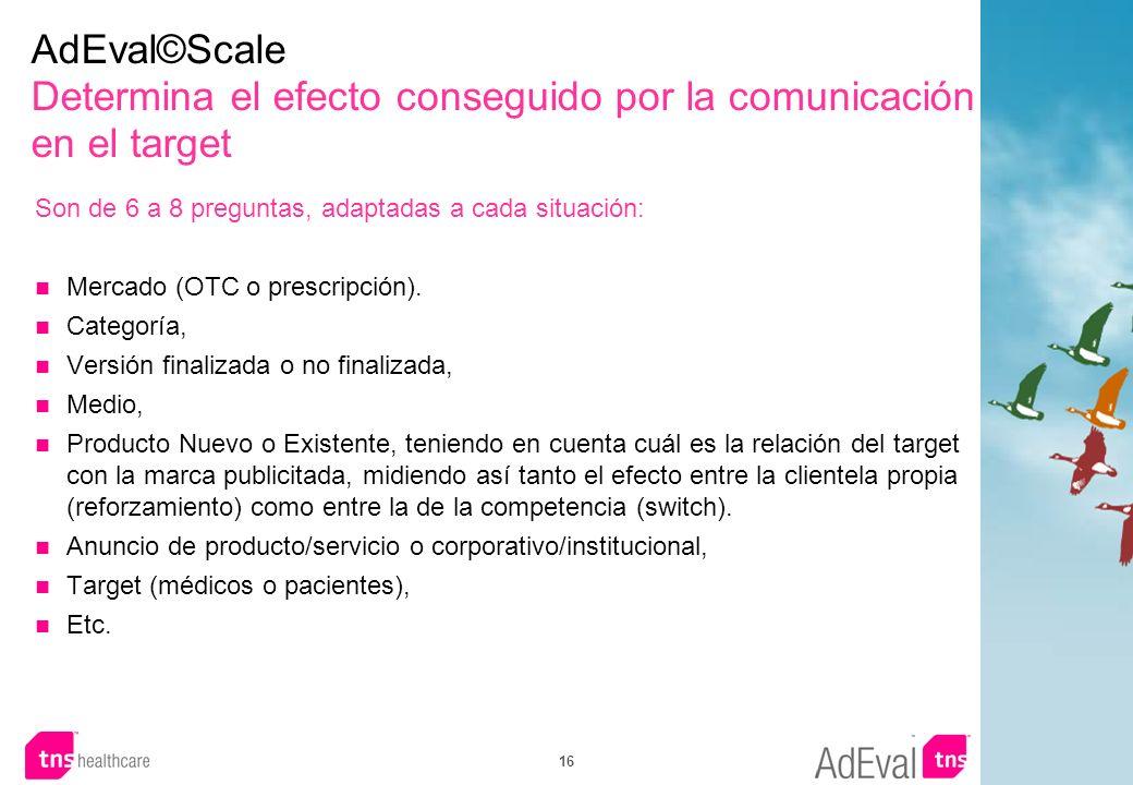 AdEval©Scale Determina el efecto conseguido por la comunicación en el target