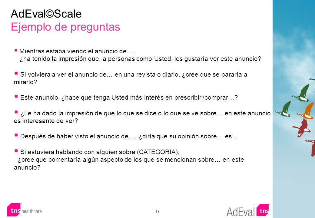 AdEval©Scale Ejemplo de preguntas