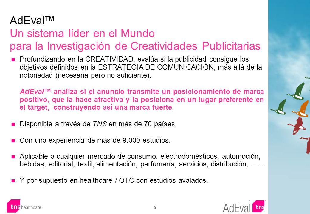 AdEval™ Un sistema líder en el Mundo para la Investigación de Creatividades Publicitarias