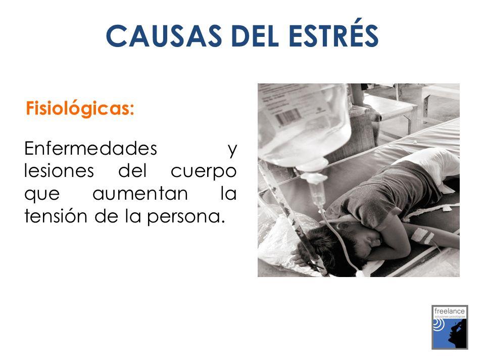 CAUSAS DEL ESTRÉS Fisiológicas: