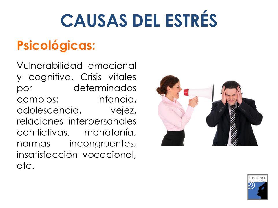 CAUSAS DEL ESTRÉS Psicológicas: