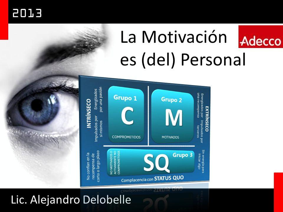 2013 La Motivación es (del) Personal Lic. Alejandro Delobelle
