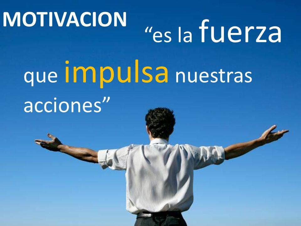 MOTIVACION es la fuerza que impulsa nuestras acciones