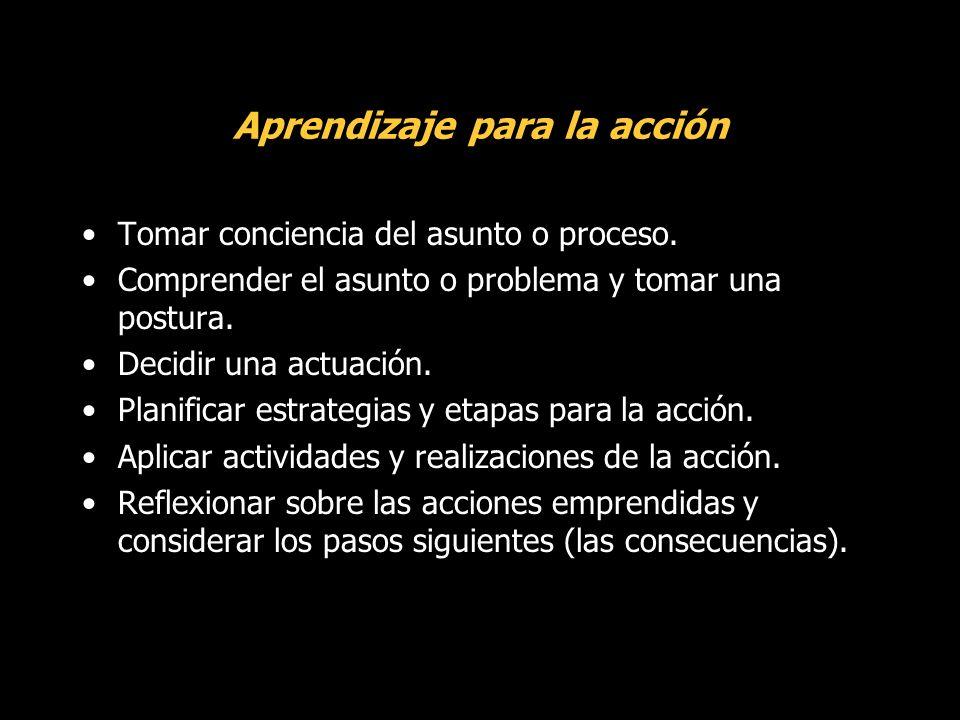 Aprendizaje para la acción