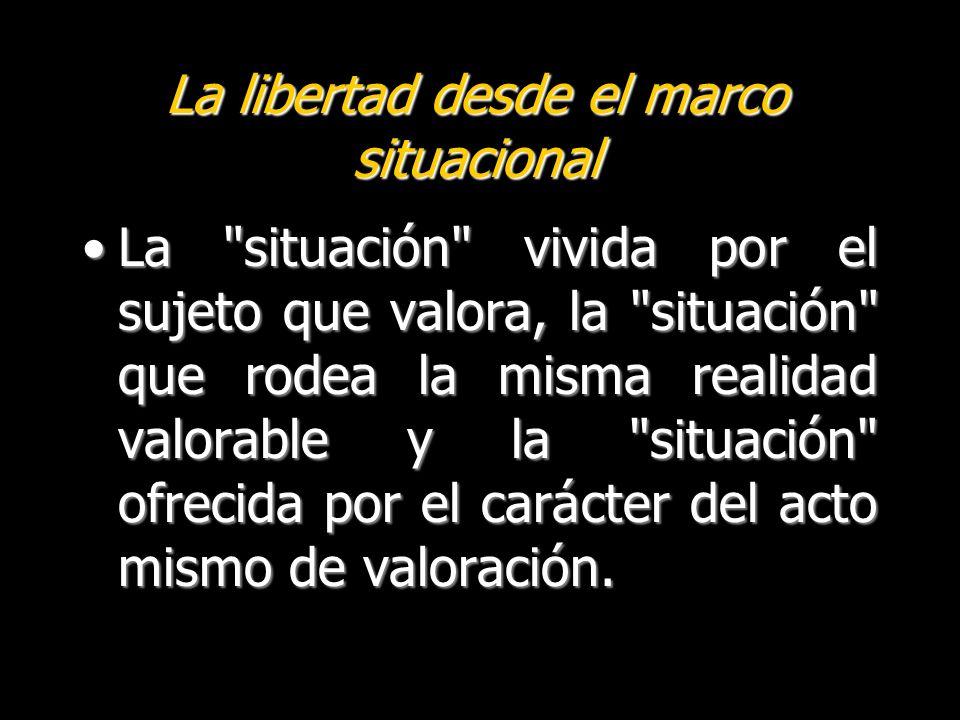 La libertad desde el marco situacional