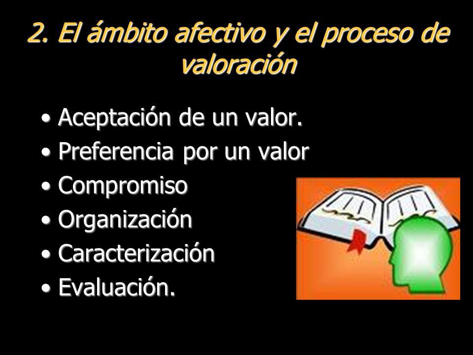 2. El ámbito afectivo y el proceso de valoración