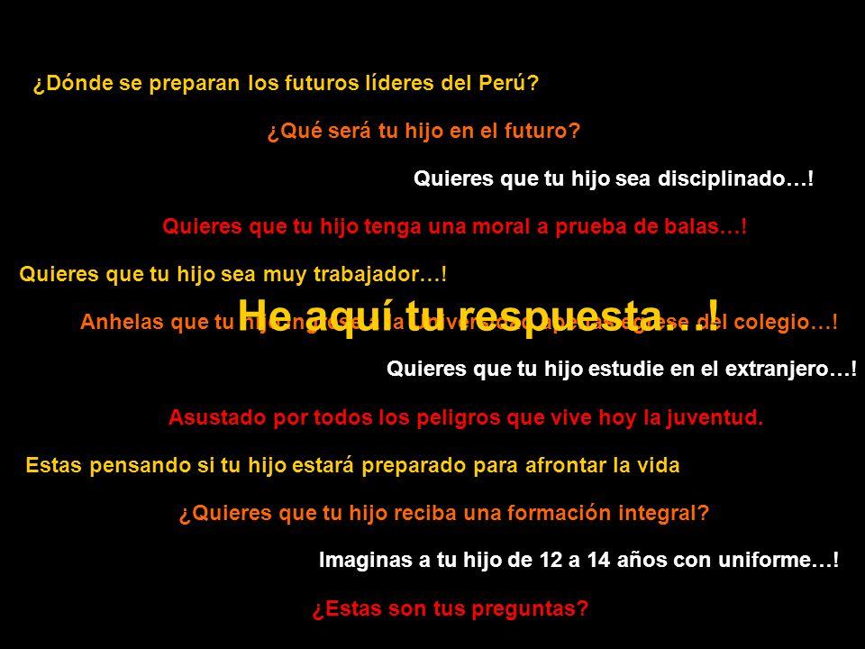 ¿Dónde se preparan los futuros líderes del Perú