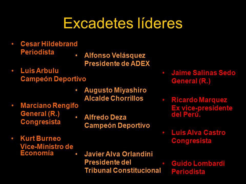 Excadetes líderes Cesar Hildebrand Periodista Alfonso Velásquez
