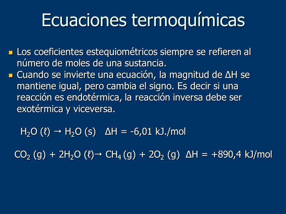 Ecuaciones termoquímicas