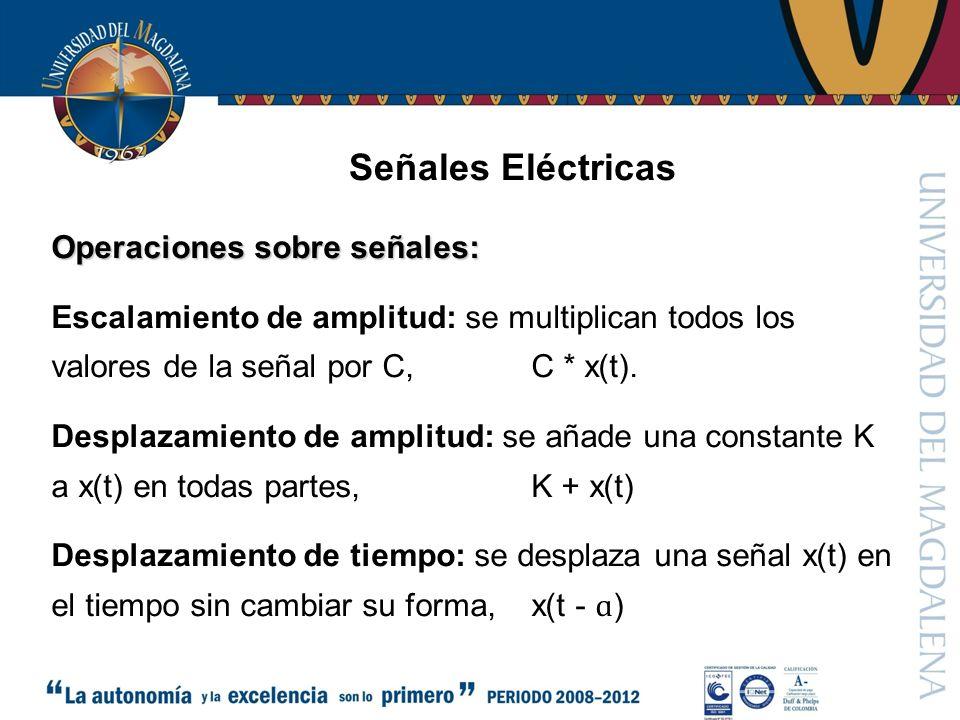 Señales Eléctricas Operaciones sobre señales:
