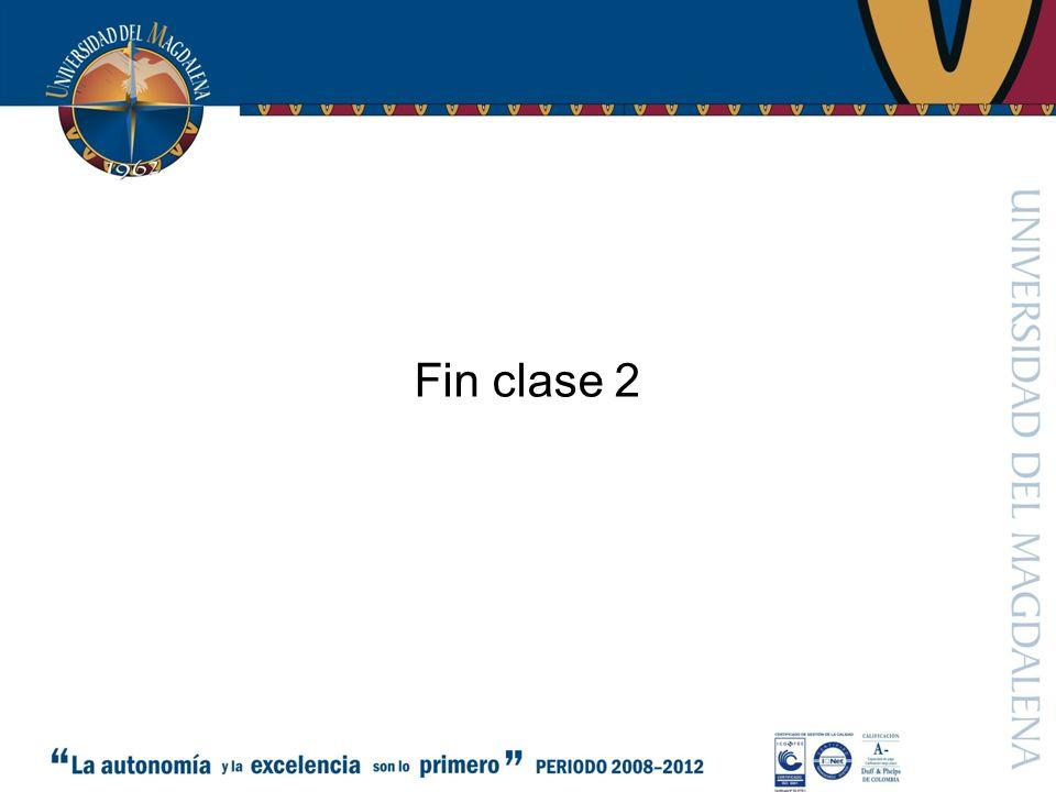 Fin clase 2
