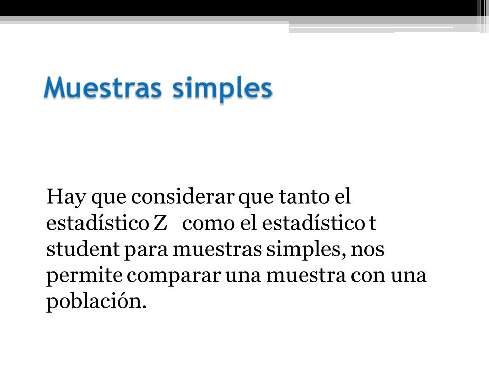 Muestras simples
