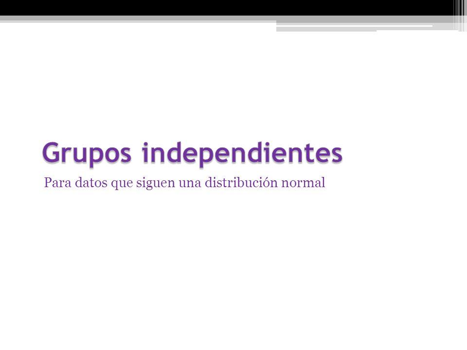 Grupos independientes
