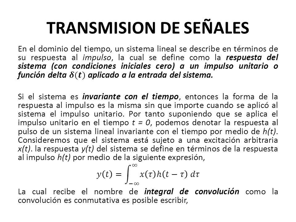 TRANSMISION DE SEÑALES