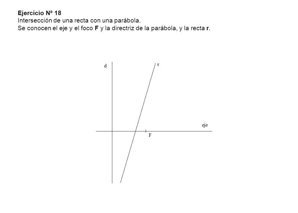 Ejercicio Nº 18 Intersección de una recta con una parábola