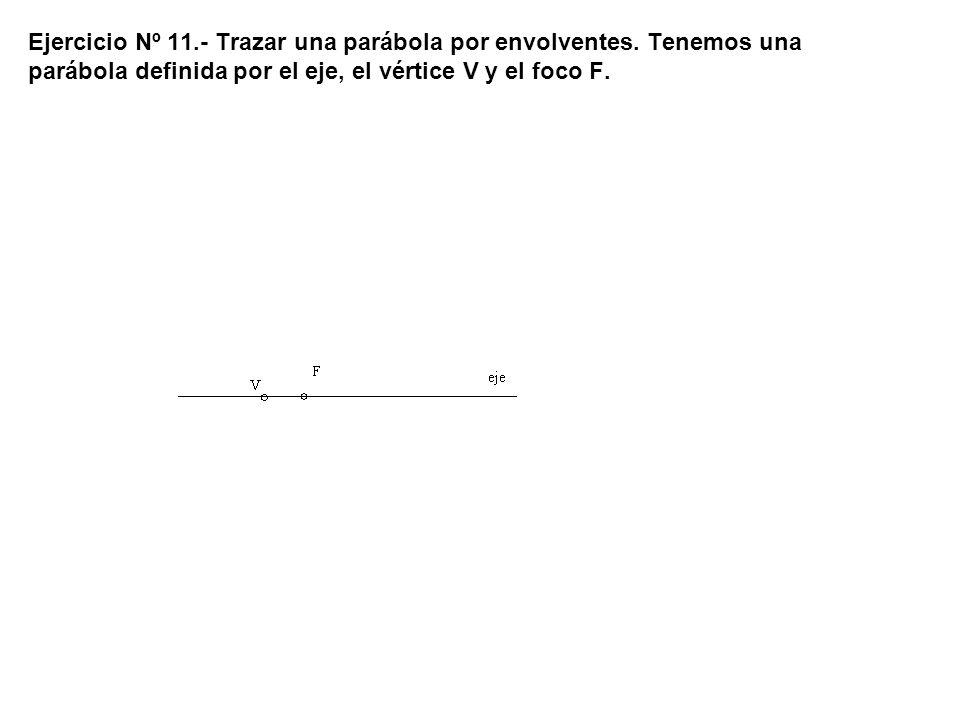 Ejercicio Nº 11. - Trazar una parábola por envolventes