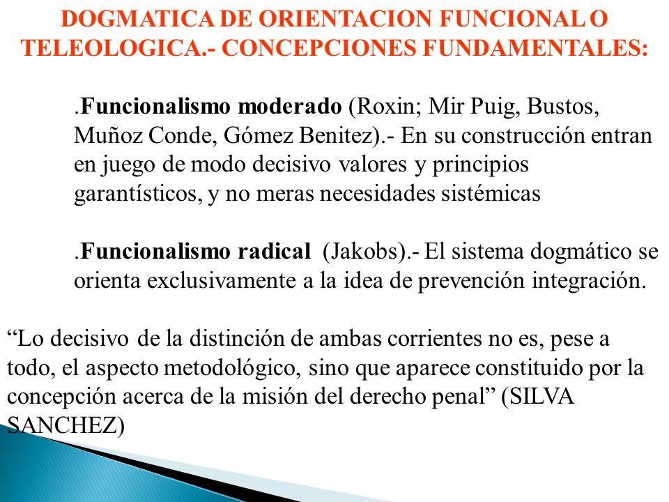 DOGMATICA DE ORIENTACION FUNCIONAL O TELEOLOGICA