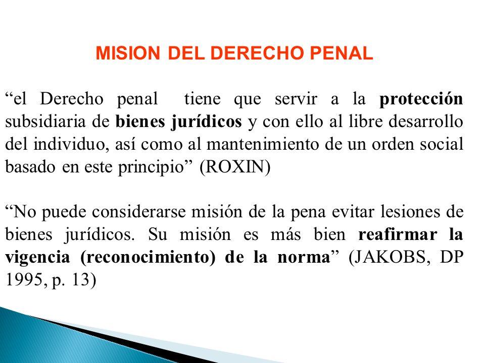 MISION DEL DERECHO PENAL