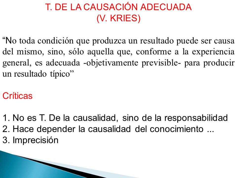 T. DE LA CAUSACIÓN ADECUADA