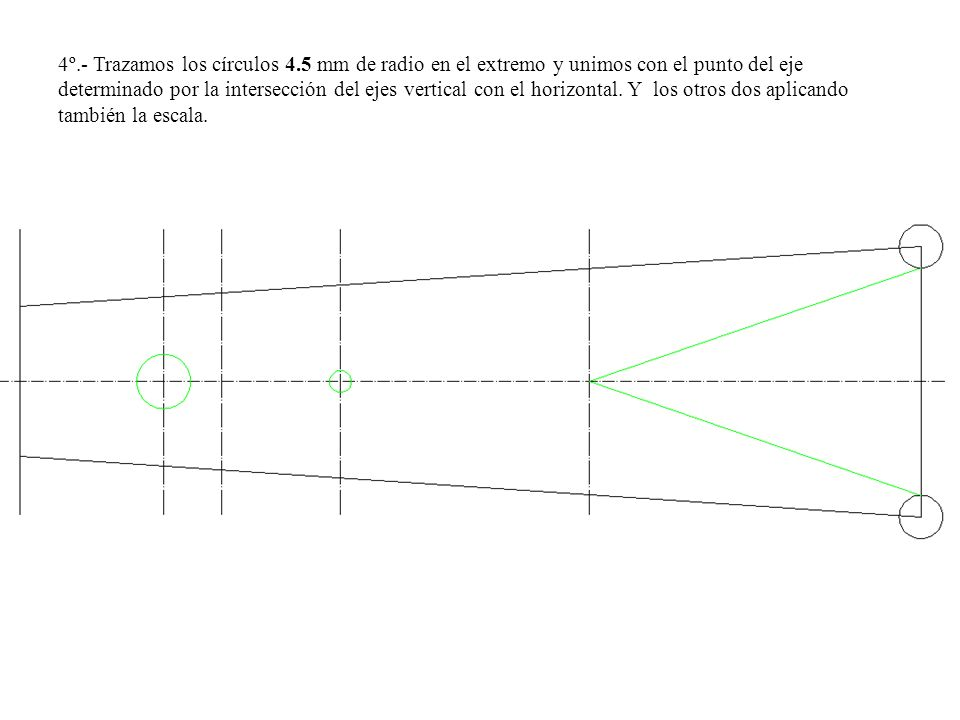 4º. - Trazamos los círculos 4