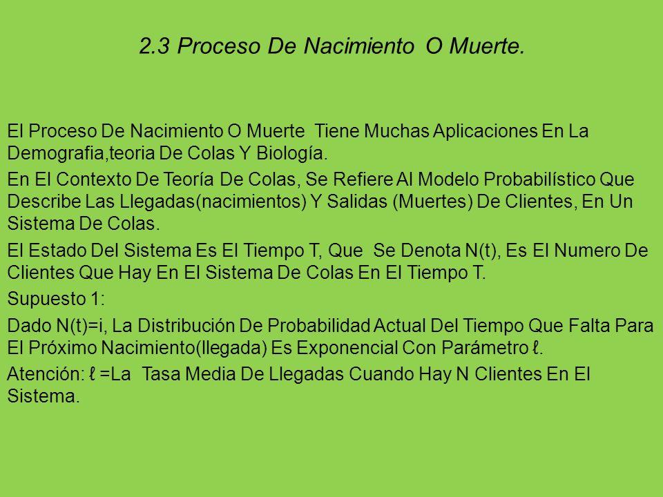2.3 Proceso De Nacimiento O Muerte.