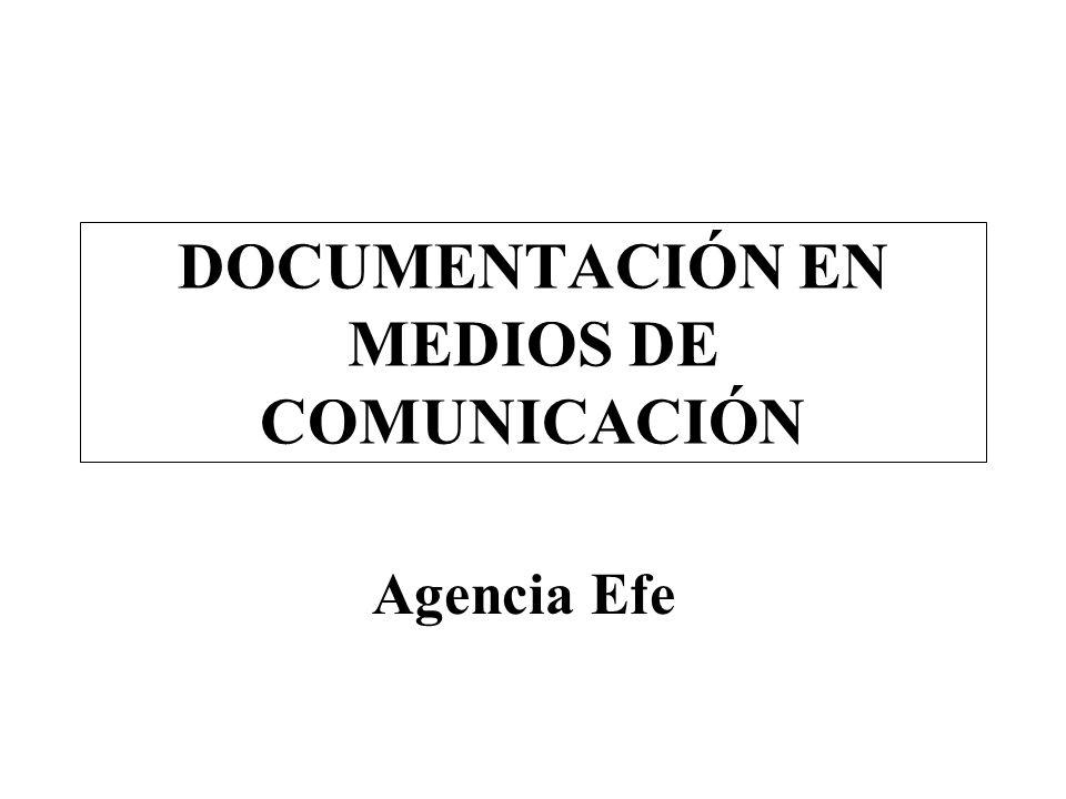 DOCUMENTACIÓN EN MEDIOS DE COMUNICACIÓN