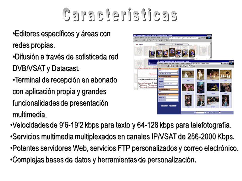 Características Editores específicos y áreas con redes propias.
