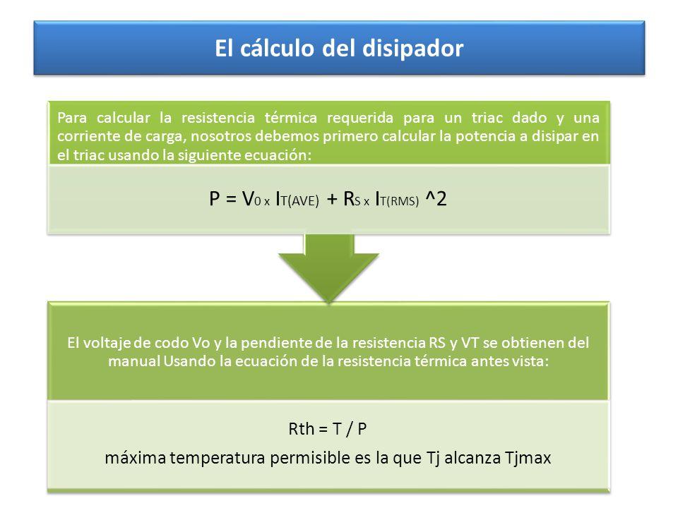 El cálculo del disipador
