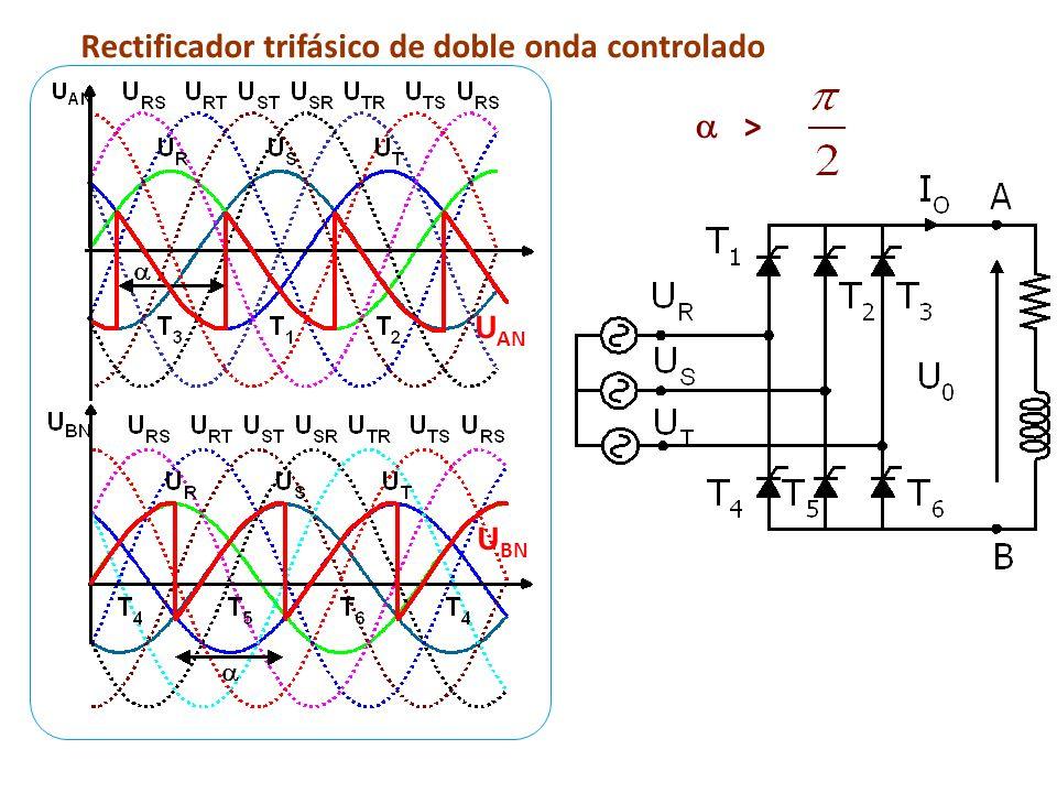Rectificador trifásico de doble onda controlado