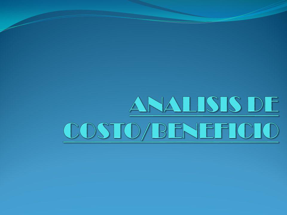 ANALISIS DE COSTO/BENEFICIO
