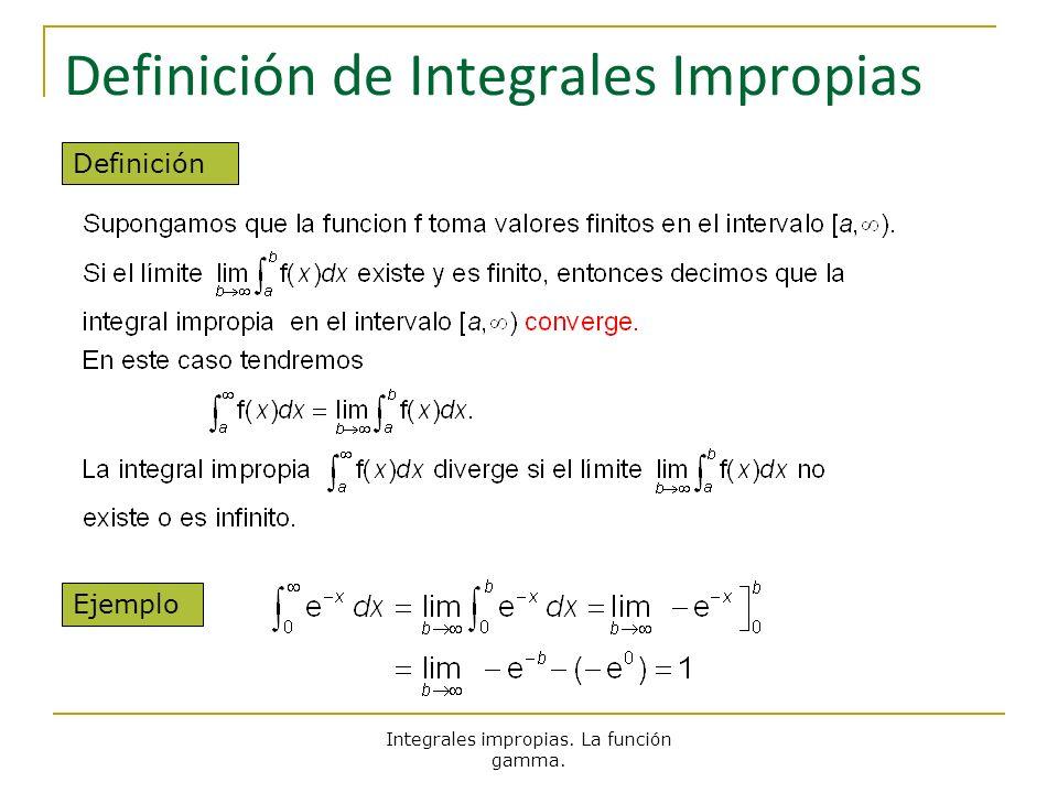 Definición de Integrales Impropias