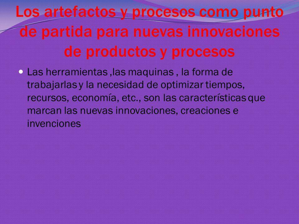 Los artefactos y procesos como punto de partida para nuevas innovaciones de productos y procesos