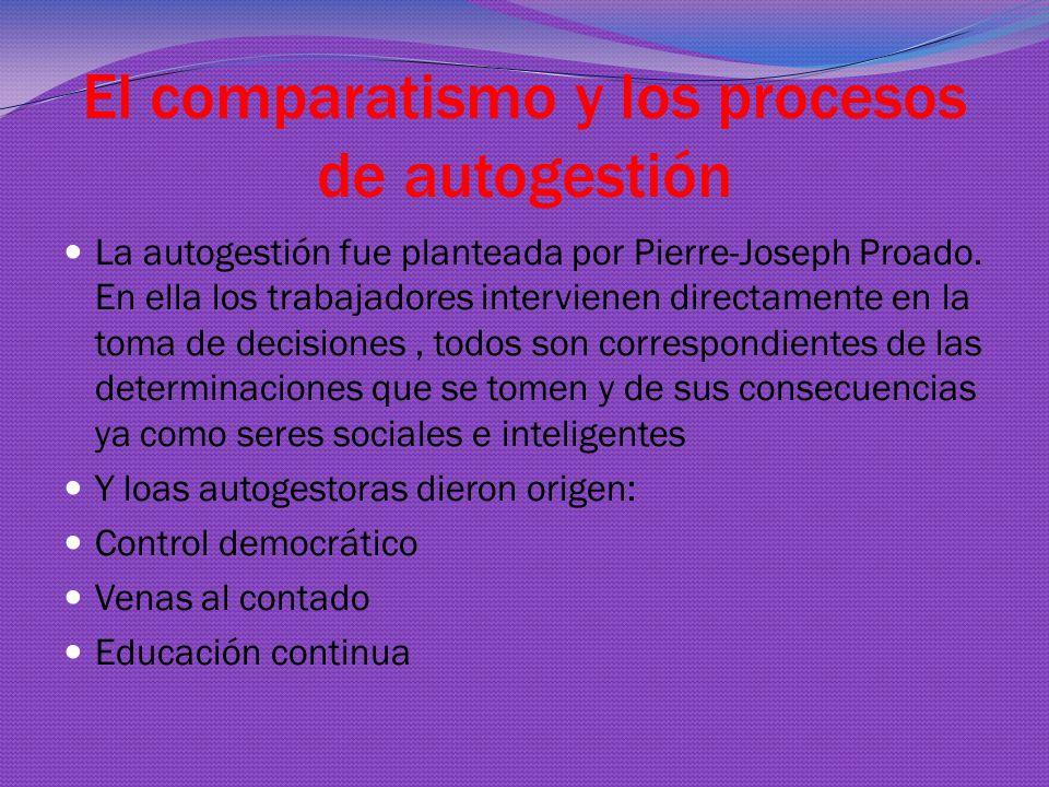 El comparatismo y los procesos de autogestión